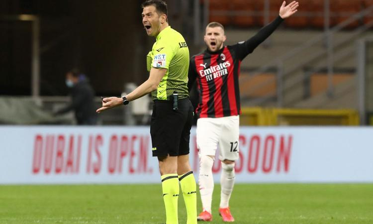 Insulti all'arbitro Pasqua: il Milan presenta ricorso contro le due giornate di squalifica a Rebic