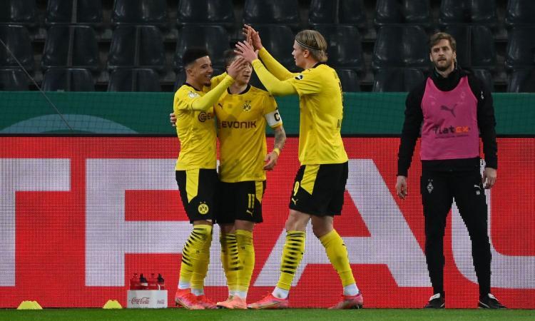 Coppa di Germania: Sancho stende il Gladbach, il Borussia Dortmund vola in semifinale