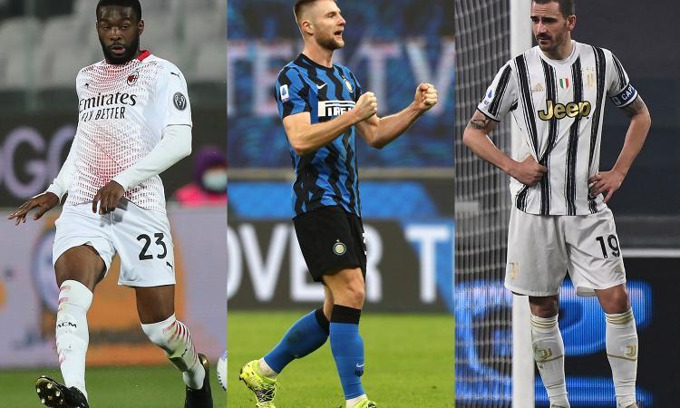 Serie A, top e flop dei difensori: Tomori e Skriniar i migliori, disastro Bonucci e Romagnoli. Il peggiore? Kolarov