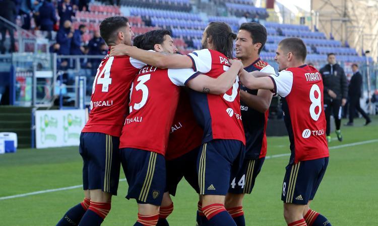 Il Cagliari non si ferma più: Roma battuta e aggancio a Benevento e Torino