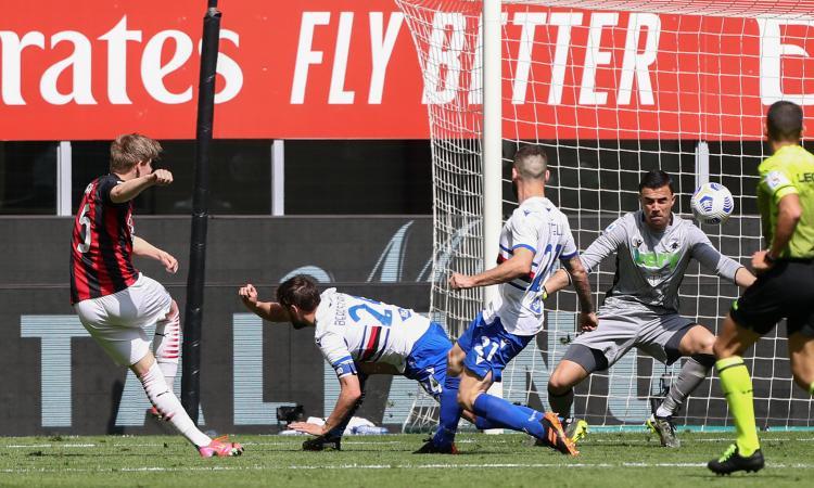 Milan-Sampdoria, le pagelle di CM: Ibra male, Theo decisivo in negativo. Finalmente Hauge, Quagliarella eterno