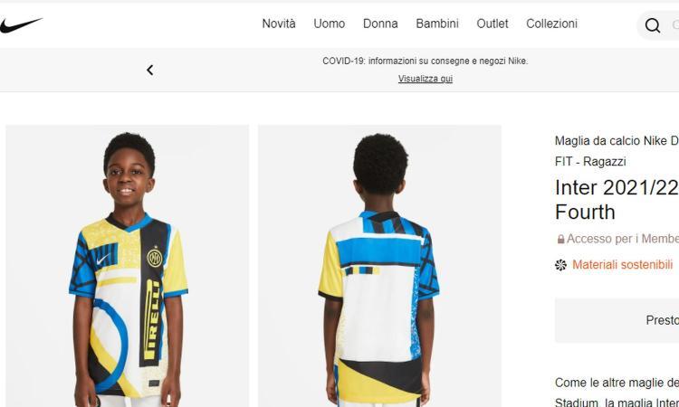 Inter, la quarta maglia fa discutere: non è in linea con il regolamento, c'è bisogno di una deroga della Lega