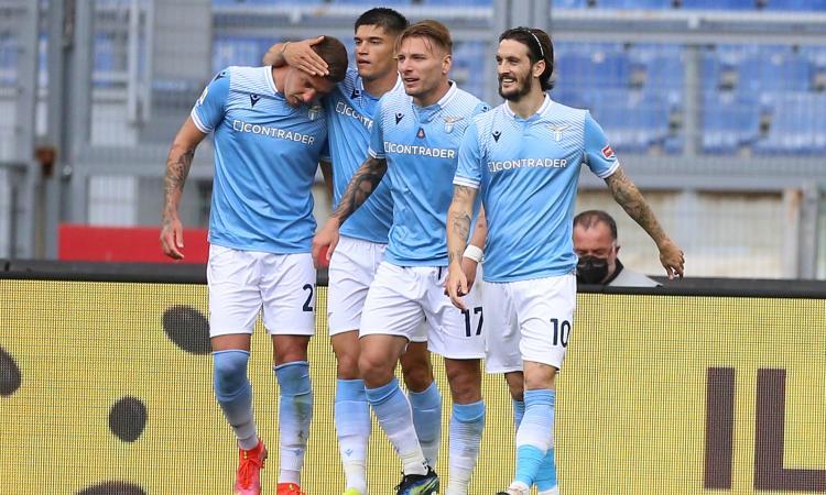 Serie A: Lazio, 5-3 sul Benevento, ma che rischio. Poker Bologna sullo Spezia