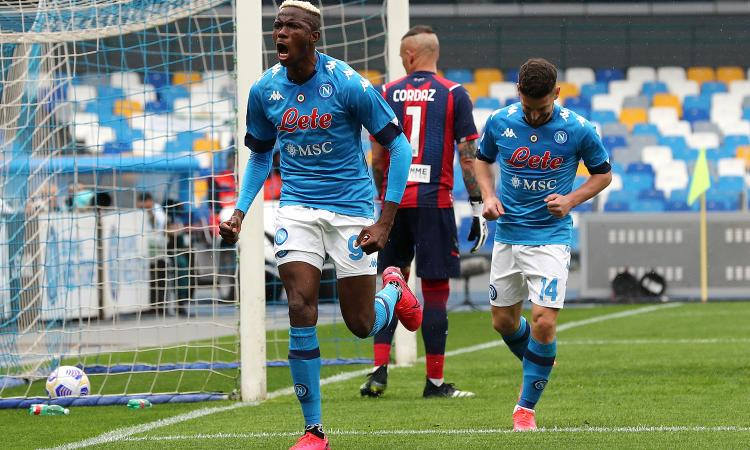 Napoli, Osimhen è meglio di Lukaku e Muriel: numeri da Champions