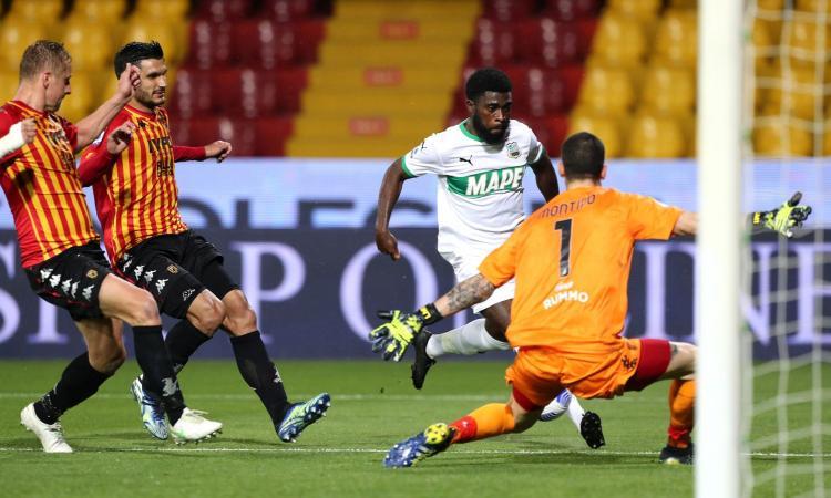 Il Sassuolo torna a vincere ed è 8°: battuto 1-0 il Benevento che resta a +8 sulla zona retrocessione