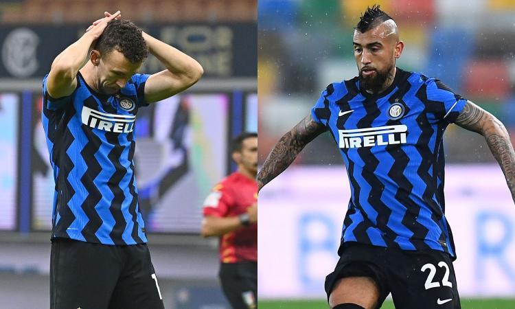 L'Inter perde i pezzi: niente Bologna per Perisic e Kolarov, a sorpresa c'è Vidal