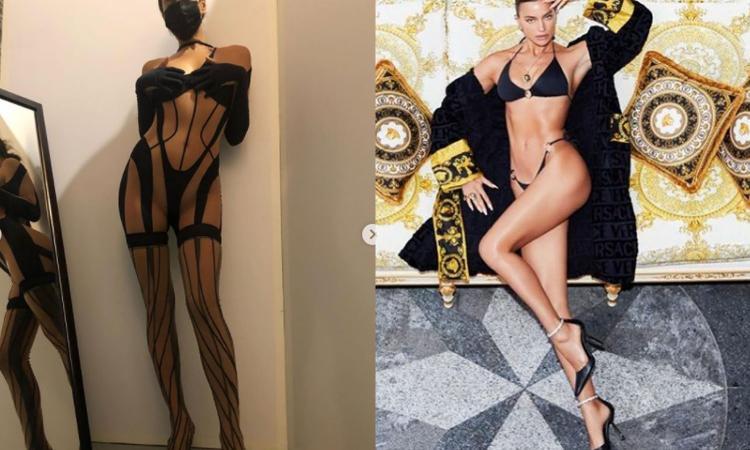 Irina Shayk illegale con la sua prova lingerie allo specchio FOTO