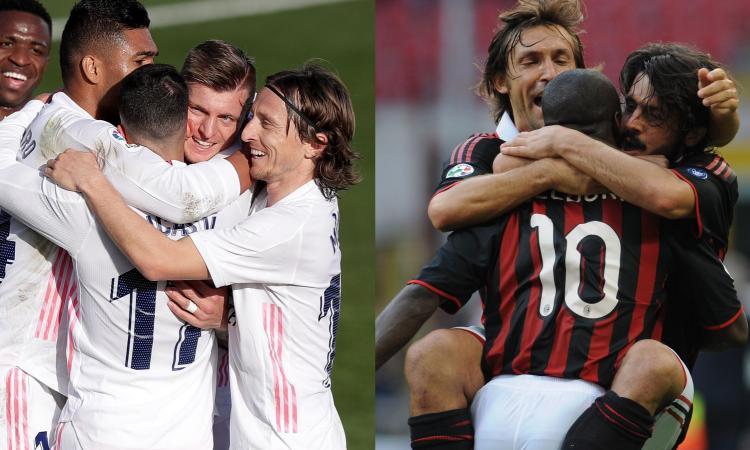 Kroos-Modric-Casemiro, centrocampo che ha segnato un'epoca: dal trio del Milan a quello del Barcellona, la top 5