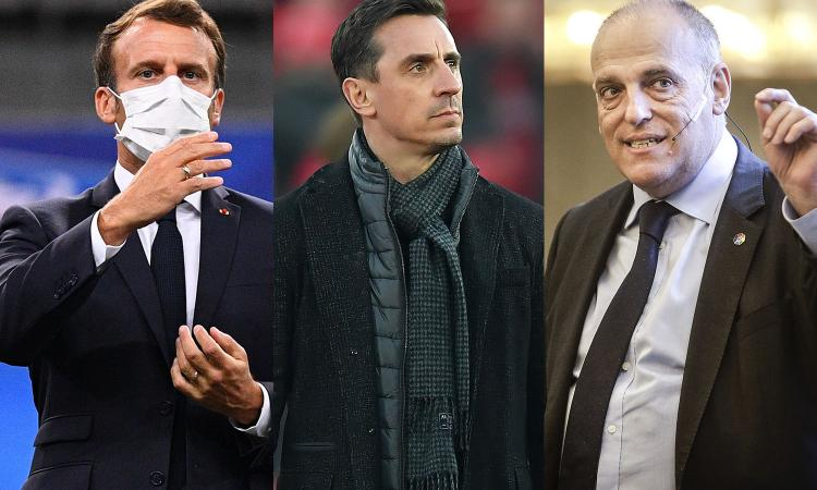 Da Macron al governo Uk  fino a Letta, Neville e Tebas: critiche pesanti sulla SuperLega