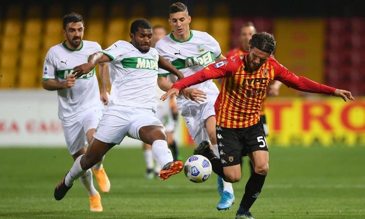 Benevento-Sassuolo 0-1: il tabellino