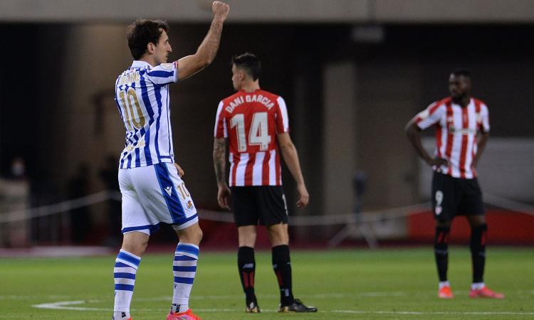 Oyarzabal stende l'Athletic Bilbao: la Real Sociedad vince la Coppa del Re 2020