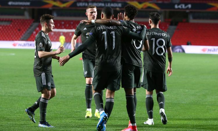 Europa League, l'andata dei quarti: il Man United vince 2-0, solo 1-1 per l'Arsenal. ll Villarreal passa a Zagabria