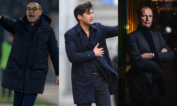 Roma, ultimo appello per Fonseca: pronto il ribaltone, contatti con Sarri e Allegri