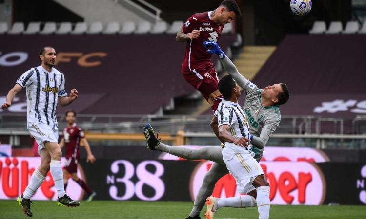 Torino-Juve, le pagelle di CM: Szczesny e Kulusevski disastrosi, Pirlo sbaglia tutto. Sanabria storico, Rincon leader