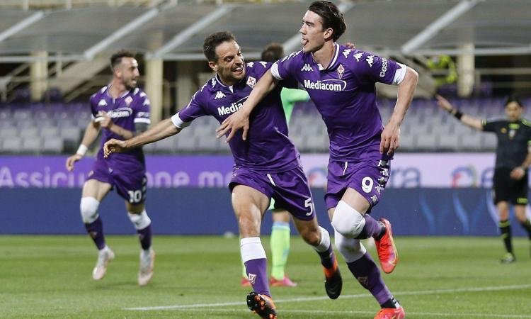 Super Vlahovic affonda i sogni Champions della Lazio: 2-0 Fiorentina, Iachini vede la salvezza