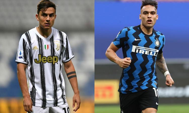 Dybala-Lautaro: oltre a Pirlo-Conte è il duello che segna il gap fra Juve e Inter
