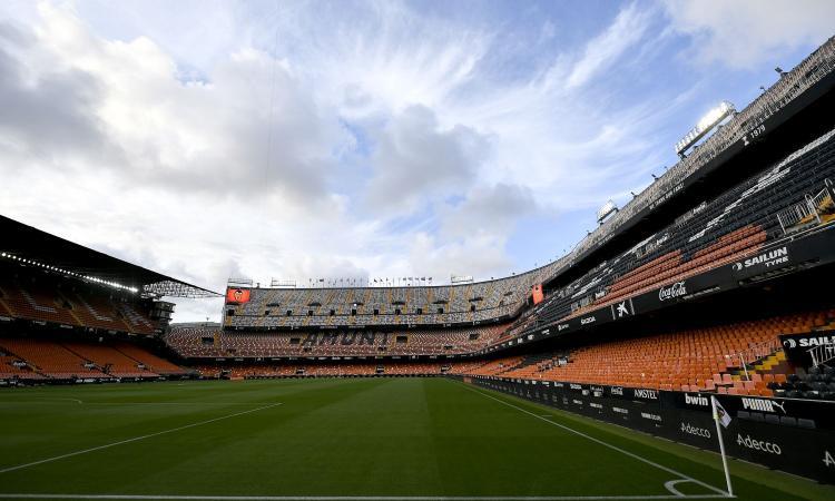 Valencia-Milan: stadio Mestalla aperto a 3.000 tifosi