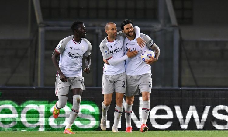 Palacio riprende il Verona: il Bologna fa 2-2 in trasferta. Ritrova il gol Kalinic