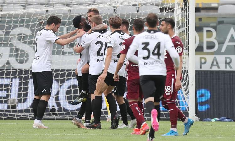 Festa Spezia, è salvo con Saponara-show. Torino disperato: 11 gol subiti in 3 giorni, ora rischia