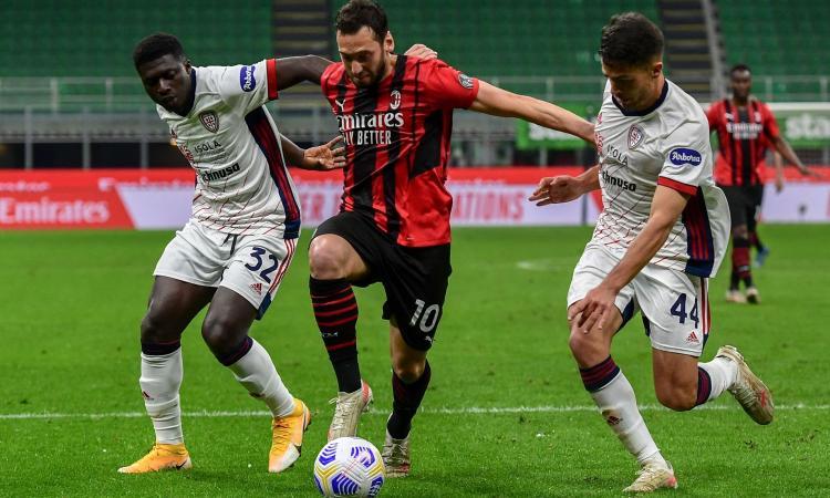 Il Milan si butta via contro un Cagliari salvo: la Champions passa da Bergamo, la Juve spera