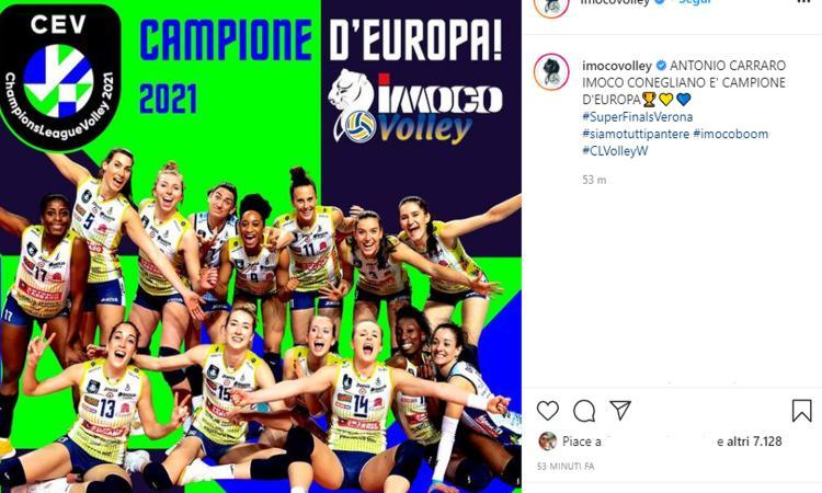 Conegliano Campione d'Europa di volley: battuto il Vakifbank 3-2 al tie break
