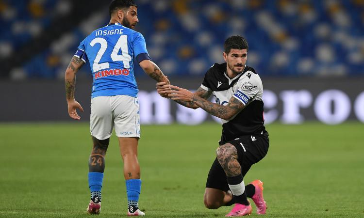 Napoli, cinquina all'Udinese e secondo posto: si avvicina la Champions League