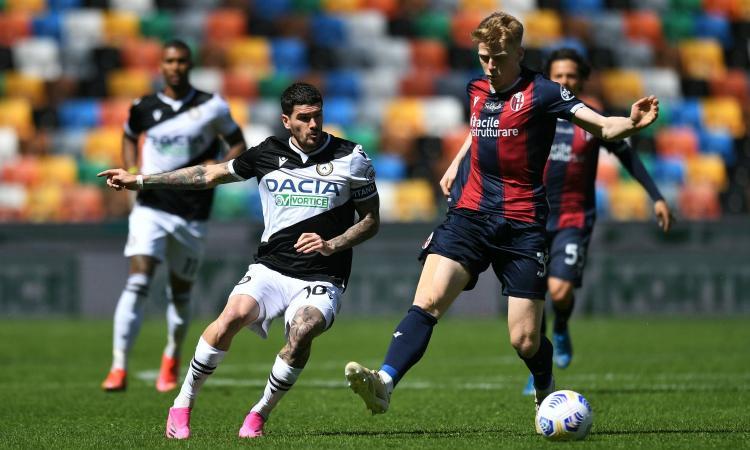 Udinese e Bologna si annullano 1-1. Serie A: risultati e classifica
