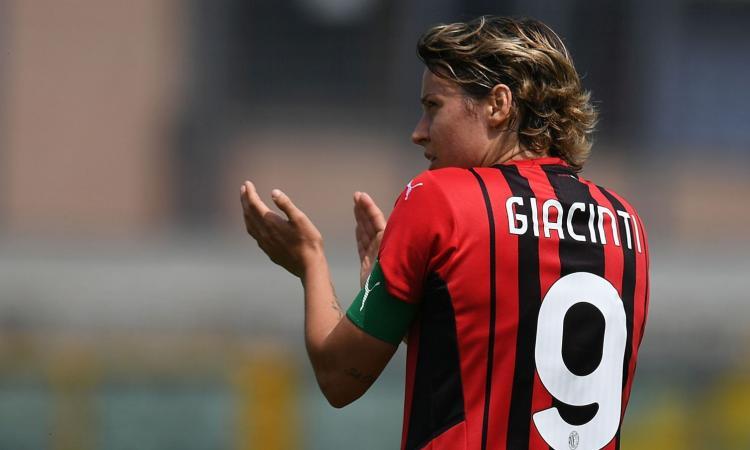 Milan femminile, UFFICIALE: il capitano Valentina Giacinti rinnova fino al 2024