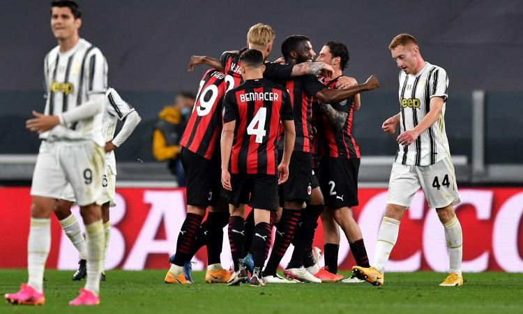 Il Milan distrugge 3-0 la Juventus e piazza lo scatto Champions. Lezione di Pioli a Pirlo che precipita al 5° posto