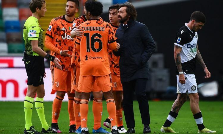 Udinese-Juve, Carnevale: 'Infuriati per la partita di ieri'