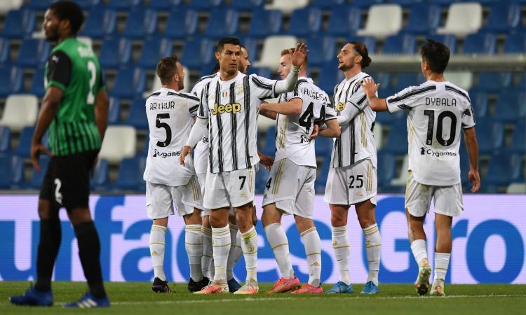 Juve, 3-1 al Sassuolo: Pirlo ringrazia Buffon, Ronaldo e Dybala