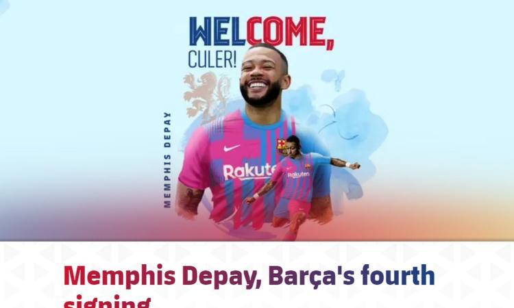 Barcellona scatenato, UFFICIALE l'arrivo di Depay: i dettagli