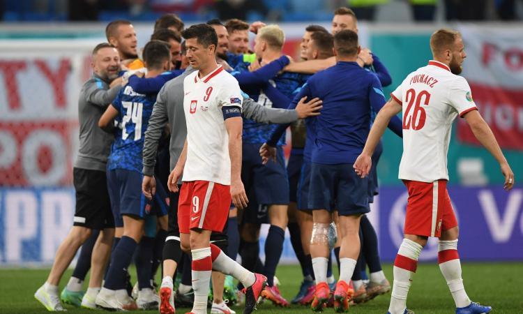 Skriniar-gol, la Slovacchia firma la prima sorpresa degli Europei e rovina i piani di Paulo Sousa: Polonia ko 2-1
