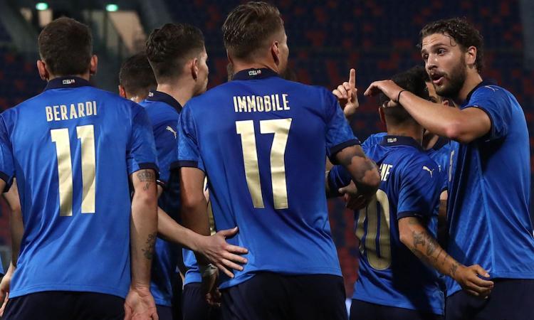 Lazio Immobile pronto per il debutto dell'Italia. Panchina per Acerbi