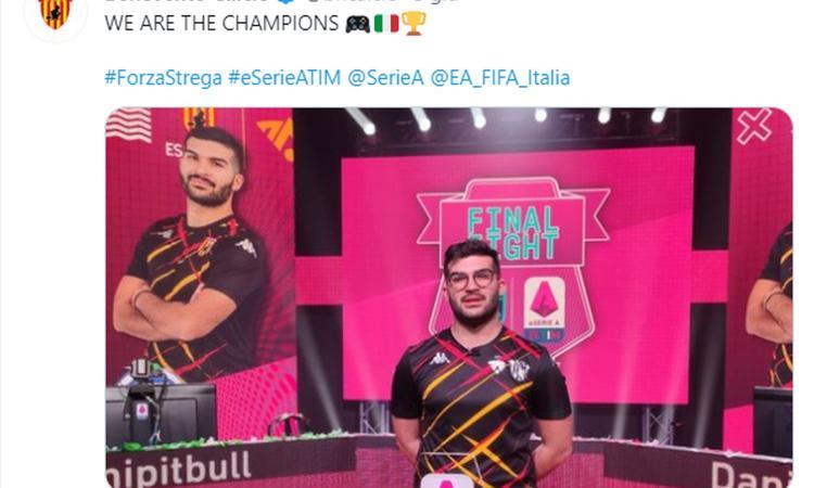 Benevento campione con il capolavoro di Danipitbull, le sorprese Udinese e Cagliari: lo show della prima eSerie A