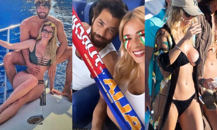 Diletta Leotta dal mare all'Olimpico per l'Italia: 3-0 a Can Yaman FOTO