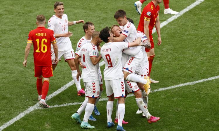 Galles-Danimarca 0-4: il tabellino