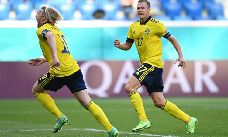 Svezia-Slovacchia 1-0: Isak incanta, Forsberg decide