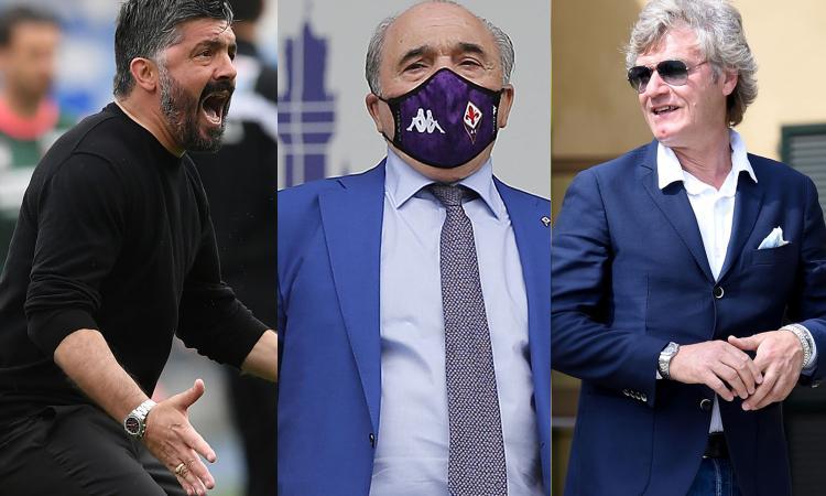 Fiorentina, clima di grande tensione: Gattuso, Commisso, Antognoni e il mercato. Ecco cosa sta accadendo