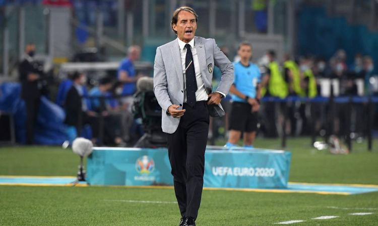Italia, Mancini: 'Soddisfazione per noi e per gli italiani. Wembley? Ne mancano solo sei'