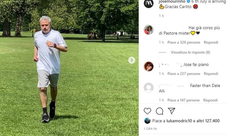 Mourinho corre per la Roma: annunciata la data del raduno