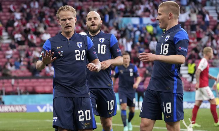 Dopo la paura per Eriksen decide un gol di Pohjanpalo: 1-0 alla Danimarca, vittoria storica per la Finlandia