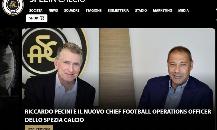 Spezia, UFFICIALE: Pecini nuovo ds, Biso sarà dt