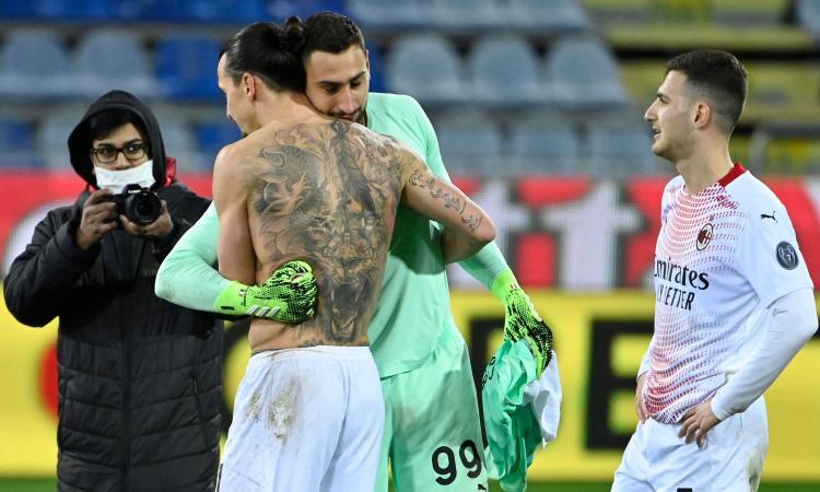 Ibrahimovic a Donnarumma: 'Un anno con me e hai già capito come si vince' FOTO