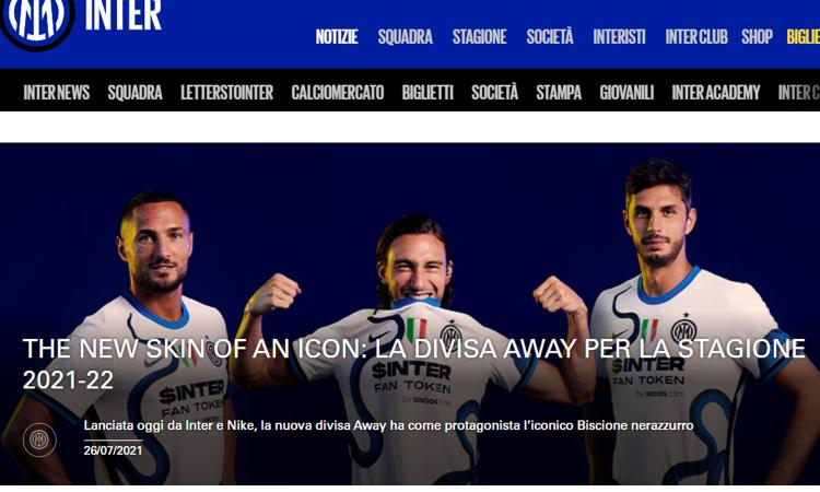 Inter, UFFICIALE: svelata anche la seconda maglia. C'è il biscione nerazzurro FOTO e VIDEO