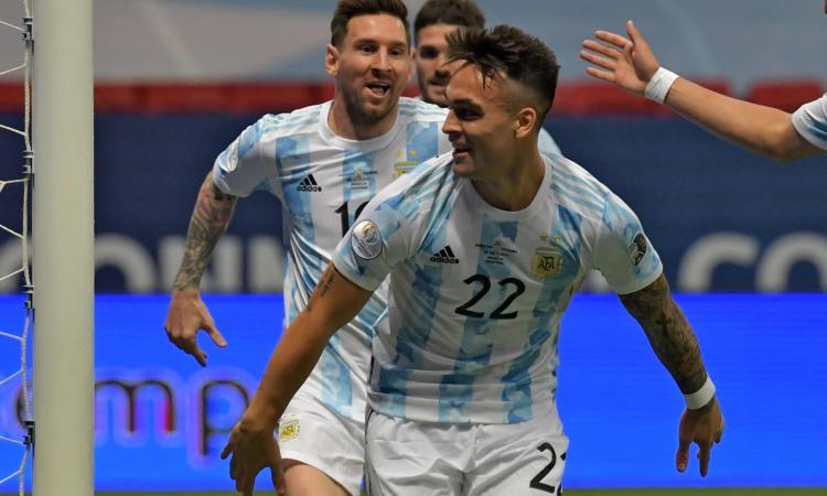 Lautaro gol, Argentina in finale di Coppa America: meglio di Higuain e Aguero, l'Inter studia il rinnovo