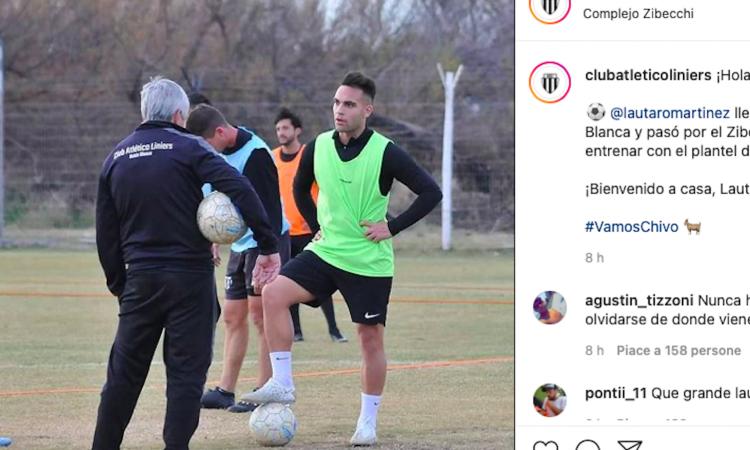 Inter, Lautaro si allena in Argentina coi Liniers di Bahia Blanca: due ore di seduta, ragazzini stregati. Il racconto