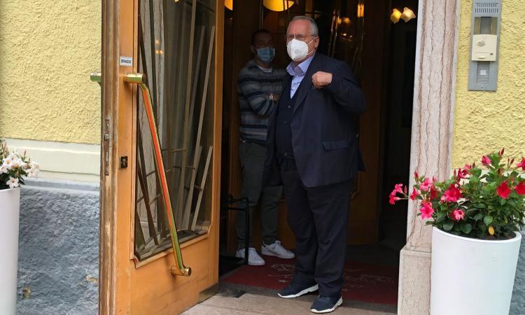 Lazio, Tare arriva ad Auronzo di Cadore. C'è anche Lotito