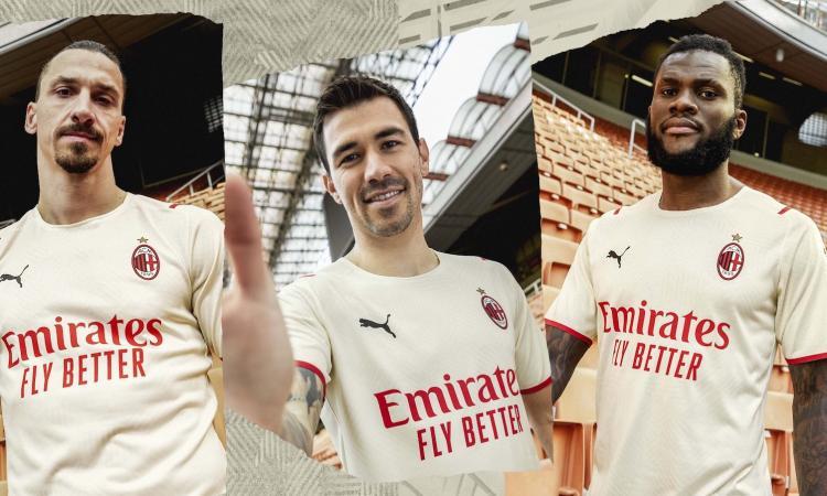 Milan, UFFICIALE la seconda maglia: bianca, con inserti rossi e dorati FOTO