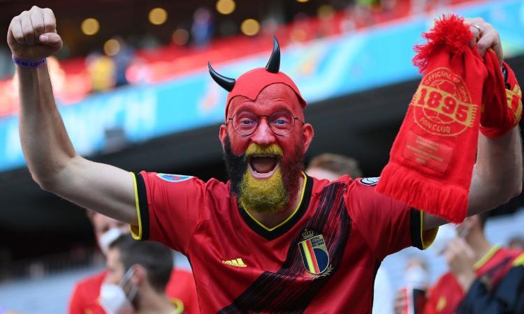 Belgio-Italia, la macchia rossa colora l'Allianz Arena: 'Noi più forti, voi più abituati a queste partite'